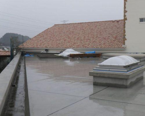 ②屋上緑化 着工前。