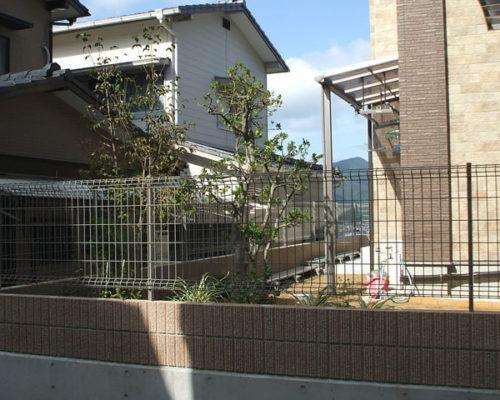 ②既存の庭園。樹木は再利用します。